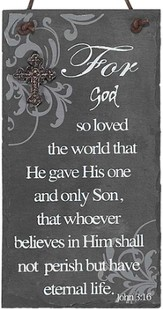 For God So Loved the World Plaque