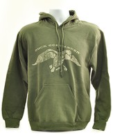 Duck Commander Hooded Sweatshirt, Green, X-Large