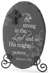 Be Strong in the Lord Plaque