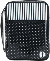 Polka Dot Bible Cover, Black and White, Medium