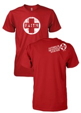 Faith, Nothing Is Impossible With God Shirt, Red, Large