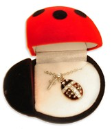 Lady Bug with Cross Pendant