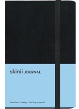 Skinii Journal, Compact, Italian Duo-Tone, Black, Hard Case