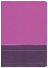 NIV Life Application Study Bible, Large Print, Italian Duo-Tone, Dark Orchid/Plum
