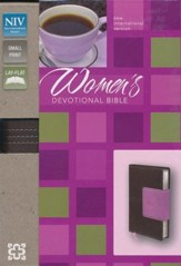 NIV Women's Devotional Bible, Compact, Italian Duo-Tone, Chocolate/Orchid - Imperfectly Imprinted Bibles