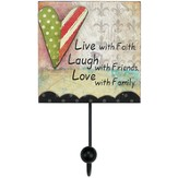 Live Love Laugh Wall Hook
