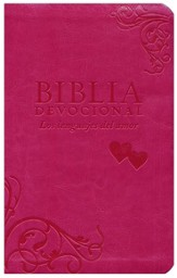 Biblia Devocional NTV Los Lenguajes del Amor, Rosado, The  Love Languages Devotional Bible, Duotone Pink   - Imperfectly Imprinted Bibles