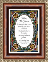 Bless This House, Joshua 24:15 Framed Print