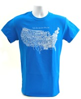 Let the Nation Praise Shirt, Blue, Large