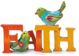 Faith Figurine with Bird
