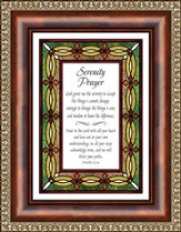 Serenity Prayer, Proverbs 3:5-6 Framed Print