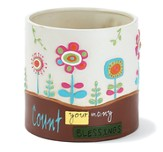 Count Your Blessings Flower Pot