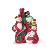 Snowmen Figurine, We Lift Your Name on High