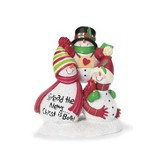 Snowmen Figurine, Spread the News, Christ is Born
