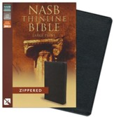NASB Thinline Zippered Collection Bible, Large Print, Black