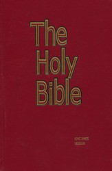 KJV Pew Bible, Red