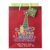 I Wish You a Merry Christmas Gift Bag, Medium