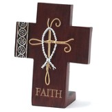 Faith Cross, with Ichthus