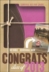 NIV 2013 Survival Kit for Grads Pack Chocolate/Pink Case of 18