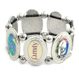 Family--Medallion Stretch Bracelet