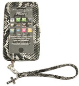 iPhone 5 Wristlet With Cross, Black, Gray, White