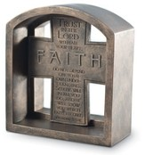 Faith Cross Bookend Plaque