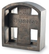 Journey Cross Bookend Plaque