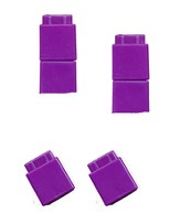 Unifix Cubes (Purple, 100 Pieces in a Pouch)