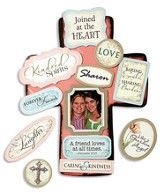 A Friend Loves at All Times Friendship Cross with Magnet Set