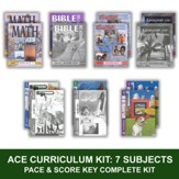 ACE Comprehensive Curriculum (7 Subjects), Single Student Complete PACE & Score Key Kit, Grade 3, 3rd Edition (with 4th Edition Science & Social Studies)