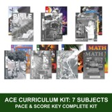 ACE Comprehensive Curriculum (7 Subjects), Single Student Complete PACE & Score Key Kit, Grade 4, 3rd Edition (with 4th Edition Science & Social Studies)