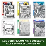 ACE Comprehensive Curriculum (6 Subjects), Single Student Complete PACE & Score Keys Kit, Grade 7, 3rd Edition (with 4th Edition Math & Social Studies)