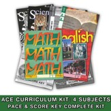 ACE Core Curriculum (4 Subjects), Single Student Complete PACE & Score Key Kit, Grade 11, 3rd Edition (with 4th Edition Social Studies)