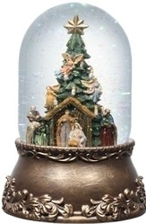 Musical Rotating Nativity with Christmas Tree