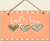 God Is Love Wood Sign