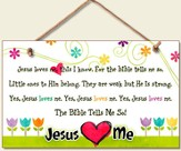 Jesus Loves Me Wood Sign