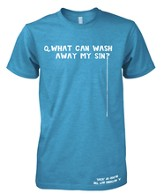 What Can Wash Away My Sin Shirt, Blue, XXX-Large