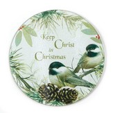 Keep Christ in Christmas Glass Cutting Board