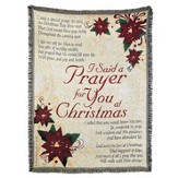 I Said a Prayer for You at Christmas Throw
