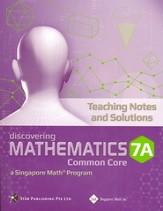 Discovering Mathematics Teaching Notes & Solutions 7A (Common Core State Standards Edition)