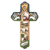 Nativity Wall Cross, Multicolor