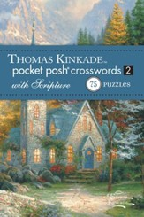 Pocket Crosswords with Scripture, Thomas Kinkade Artwork