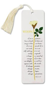 Love is Patient Wedding Bookmark