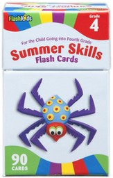 Summer Skills, Grade 4, Flash Cards