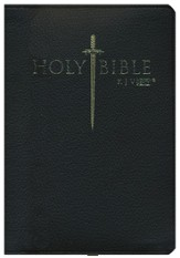KJV Easy Reader Sword Bible, Personal Size, Genuine  Leather, Black, Indexed