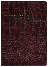 KJV Easy Reader Sword Bible, Personal Size, Bonded  Leather, Walnut
