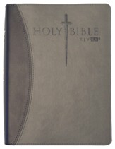 KJV Easy Reader Sword Bible, Personal Size, Leatherlike Black/Gray Duotone