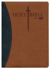 KJV Easy Reader Sword Bible, Personal Size, Leatherlike Black/Tan Duotone