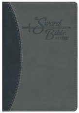 KJV Easy Reader Sword Bible. Personal Size, Leatherlike Black/Gray Duotone, indexed
