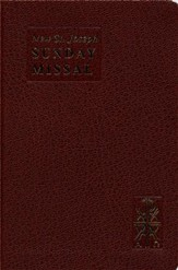New St. Joseph Sunday Missal, Complete Edition   Imitation Leather, Brown